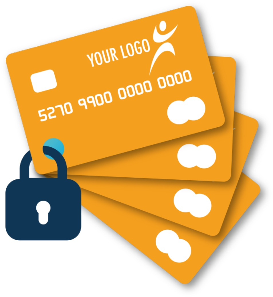 Secure cards with B4B prepaid contactless card